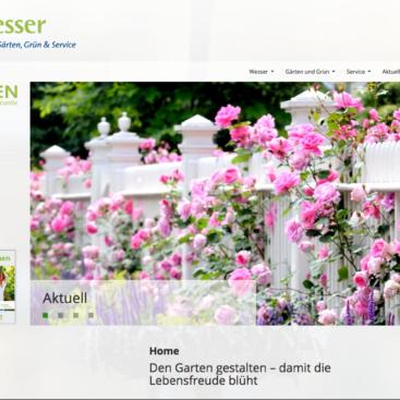 Wesser Gärten, Grün & Service, Screenshot