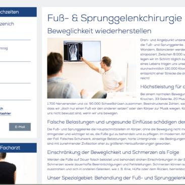 Orthopädie am Gürzenich, Screenshot