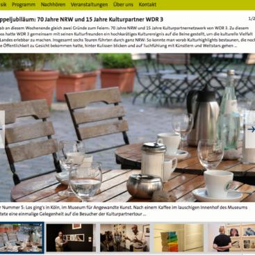 Fotostrecke für WDR 3, Screenshot