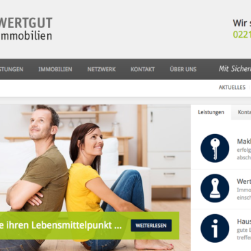 WERTGUT Immobilien Screenshot
