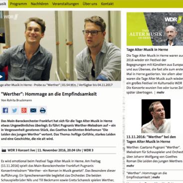 Werther, Tage Alter Musik Herne, Screenshot