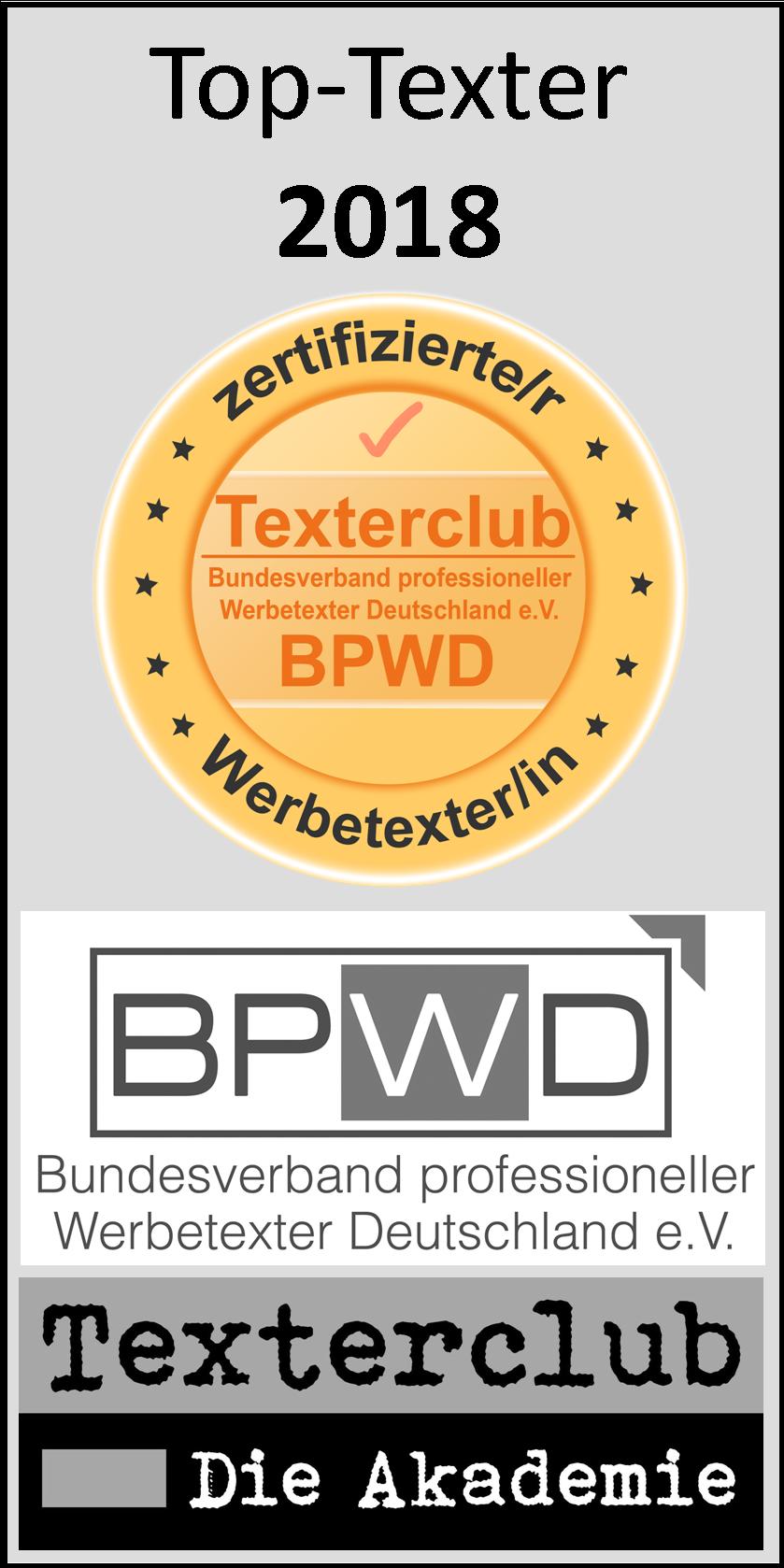 Texterclub-Siegel, top-Texter wortezauber