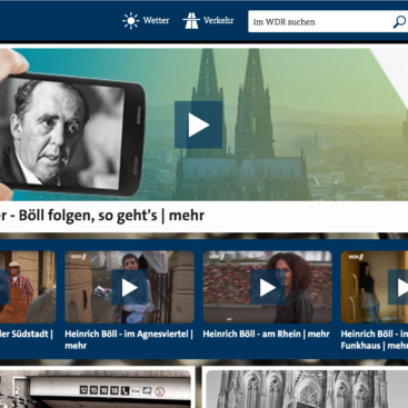 Multimediaprojekt Böll folgen WDR Videowalk
