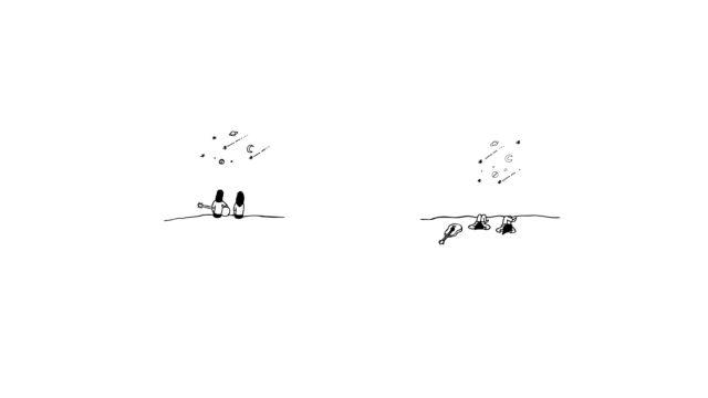 Wie schreibe ich einen Songtext? Illustration zum Song Midnight Stars von Maike Hartmann